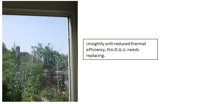 repairs to misted glass and windows